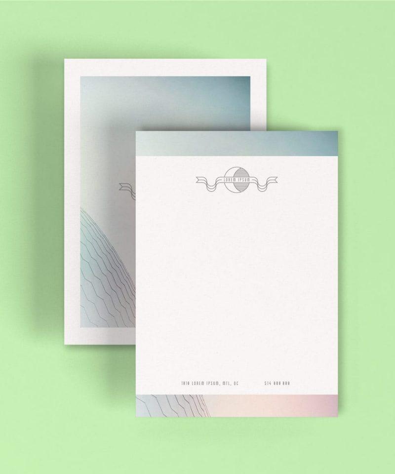 Stationery--letterhead